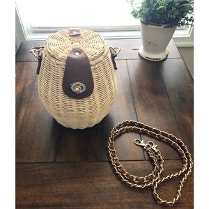 Pink Haley straw bag from Nordstrom Rack